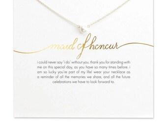 Maid of honor card, maid of honor, bridesmaid proposal, bridesmaid gift, maid of honor proposal, maid of honor gift, bridesmaid necklace