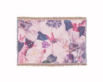 Jungle Flowers • Throw Blanket