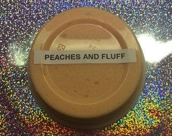 Peaches and fluff cloud slime