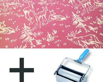 Pattern Paint Roller Kit DIY Wallpaper - Forest Animals (upgrade to Double Applicator)