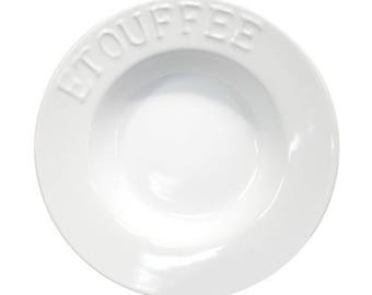 White Embossed Etouffee Bowl