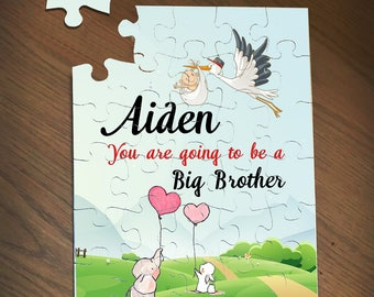 Big Brother Announcement, Going to Be A Big Brother, Big Brother Puzzle, Pregnancy Announcement Puzzle, Big Brother Gift