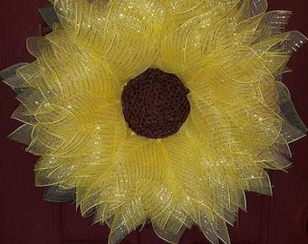 Sunflower Door Hanger Wreath