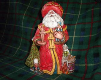 Hand Painted Ceramic Santa #5