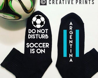 Argentina world cup soccer game day do not disturb socks mundial