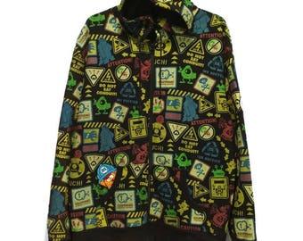 Monster Inc Full Print Hoodies Full Zip sweatshirt Sweater