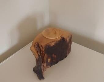 Huon pine lidded pot.
