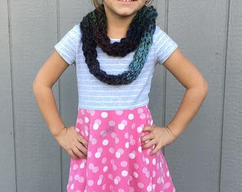 Multicolor Infinity Scarf -- child