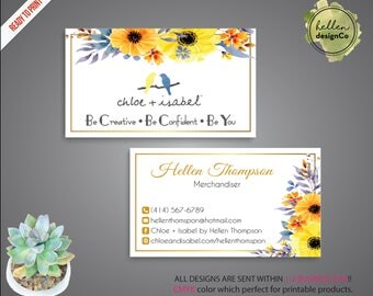 Yl business card essential oil business card personalized chloe and isabel business card custom chloe and isabel card fast free personalization colourmoves