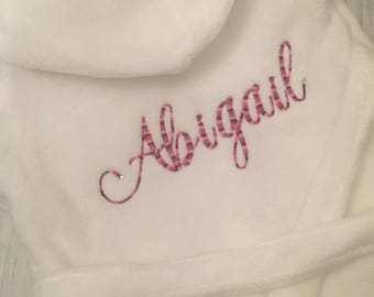 Personalised baby dressing gown/ robe, baby girl, new baby gift / babyshower/christening