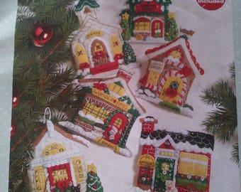 Christmas Ornaments set of 6 - Breitville - Bucilla - Mary Engelbreit