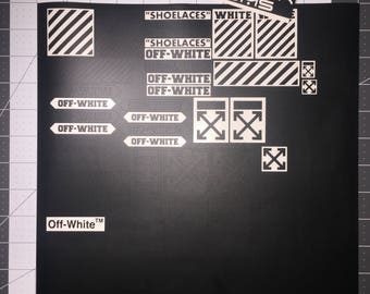 off white stencil for custom shoes