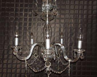 Vintage Chandelier Crystal Lamp