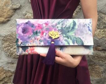 Floral Clutch / Bridesmaids Gift / Wedding Clutch / Dinner Bag / Evening Bag/ Wedding Gift