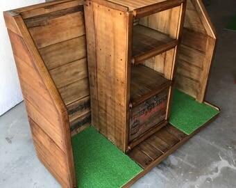 Double Stall Golf Organizer Rack