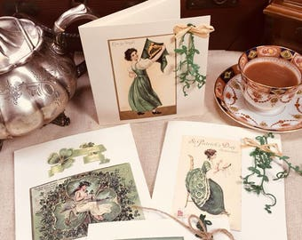 St Patrick's Day Seed Paper Collection, Garden in a card.