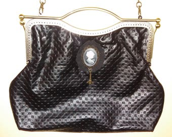 Mouthpiece bag. Black Leather