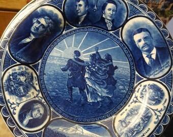Lewis and Clark 1905 Centennial Blue Paint Plate