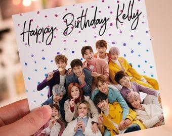 Personalised SEVENTEEN K-Pop Birthday Card
