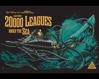 20,000 Leagues Under the Sea - 11x17 Framed Movie Poster