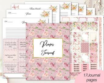 Christian planner printable/ Prayer journal/ Faith planner/ Bible study planner/ Faith stickers/ Bible journaling kit/ Christian journal