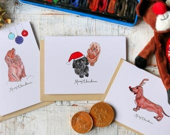 x6 Doggy Christmas | Cards | Illustration