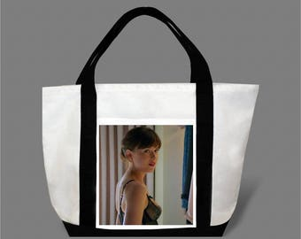 Dakota Johnson Jamie Dornan Canvas Tote Bag #0010