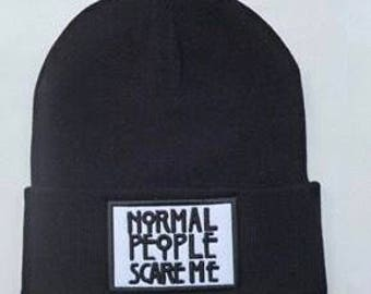 Normal people scare me beanie