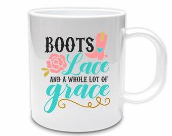 Coffee mug // Novelty mug//Country coffee mug // Cowgirl coffee mug // Cowboy boots // Gift for cowgirl // Christmas gift