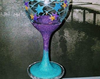 Mermaid, Mermaid Juice, Glittered Mermaid Cup, Personalized Mermaid Cup, Wine Glass, Custom Mermaid Glass, Custom Wine Glass