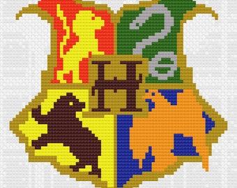 Hogwarts crest pattern