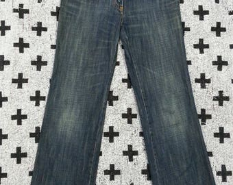 Rare!!! Authentic Dolce and gabana denim jeans leather patch exclusive designer made in Italy
