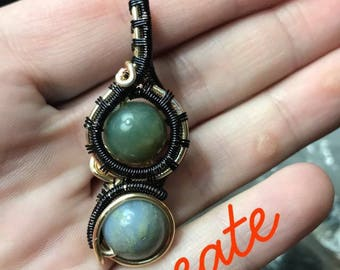 Agate Wire Wrap