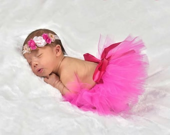 Newborn Baby Tutu. Tutus.  Tutu Skirt. Pink Tutu. Tutus for Girls. Best Baby Shower Gifts. Baby Gift Ideas. Baby Girl Gifts.