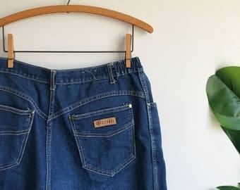 Vintage Gitano Plus Size Dark Denim Jeans / Stretchy Waistband