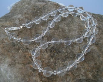 "Mountain Crystal Chain ""UTA"" 10 mm, 51 cm #617"
