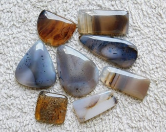 Lot !  Natural Montana Agate, Cabochon,Loose Gemstone,Gorgeous Montana Agate Cabochon Excellent Gemstone 100%Natural 148.00cts. 8 Pieces.
