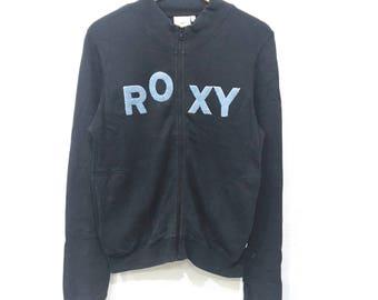 Rare! Vintage ROXY Big Logo Embroidery Sweatshirt