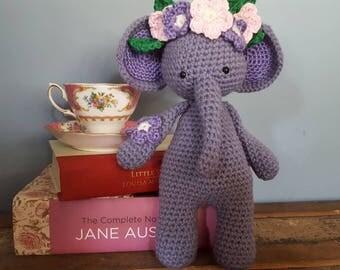 Miss Elephant Crocheted Plushie