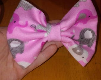 Pink elephant handmade bows