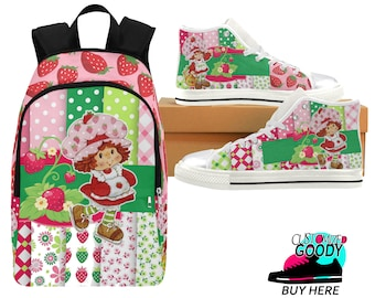 Strawberry Shortcake Sneakers & Backpack (shoe runs large, view size chart)