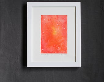 "Framed Original Mixed Media ""Sonnet of the sun"""