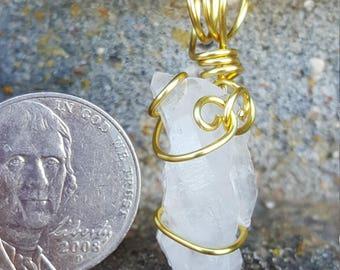 Elestial quartz pendant
