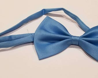 Sky blue bow tie for dog or cast