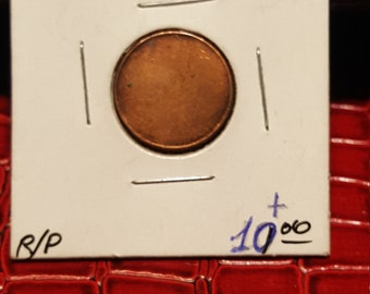 Canada 1 One Cent Blank Penny Canadian Circulated Coin