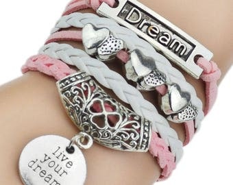 Live your Dream Charm Bracelet