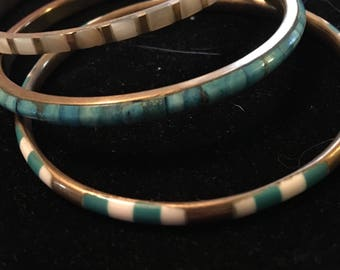 Three set bangle bracelets