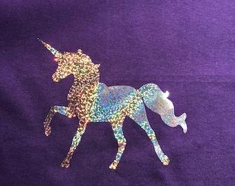 Kids holographic unicorn shirt