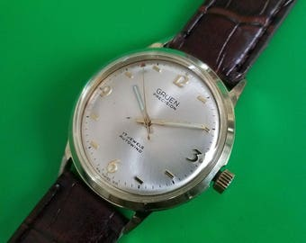 Fully Serviced Run's Excellent Vintage 1960s GRUEN *PRECISION* Men's Watch.
