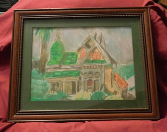 Happy Retreat pastel of house